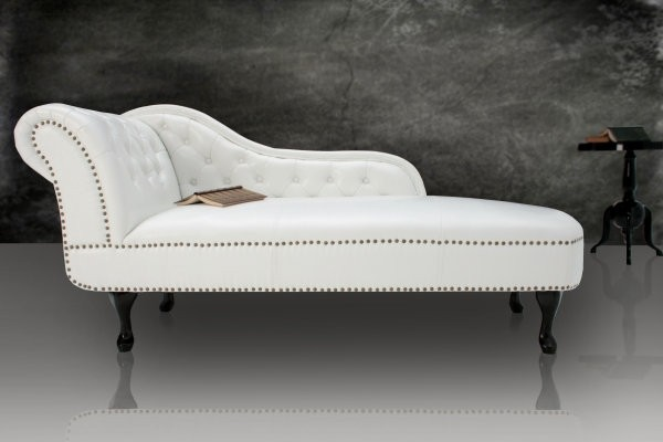LEŇOŠKA  CHESTERFIELD WHITE